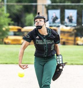 Coloma senior Skylar Crisenbery releases a pitch against Watervliet in district action on Saturday, June 2.