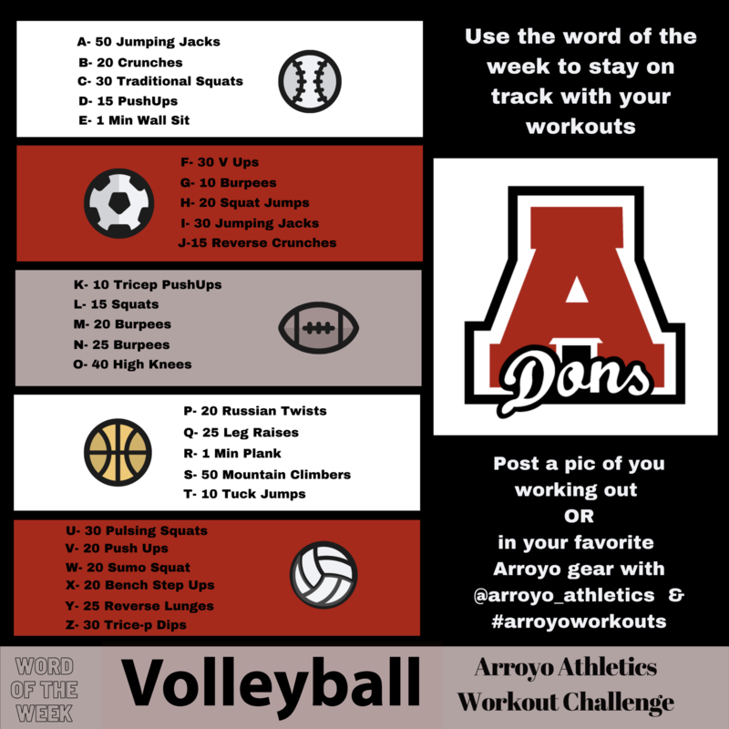 Arroyo Athletics Weekly Workout Featured Photo