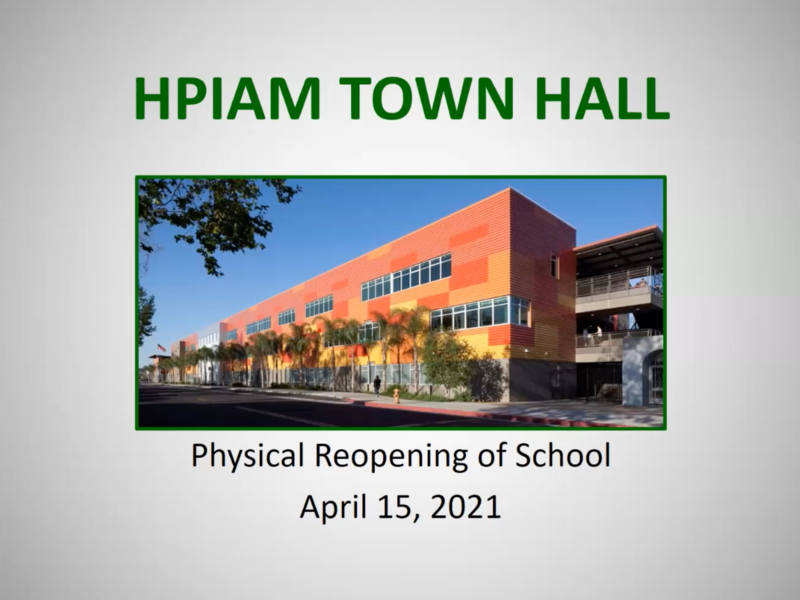 Recording of Zoom Webinar held April 15, 2021, on Physical Reopening of Campus Thumbnail Image