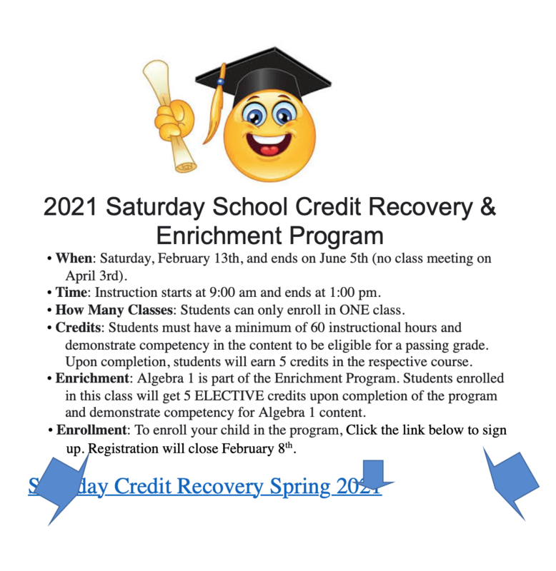 Enroll Today in the Saturday School Program Featured Photo