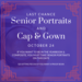 Cap & Gown and senior portraits Wednesday Oct. 24