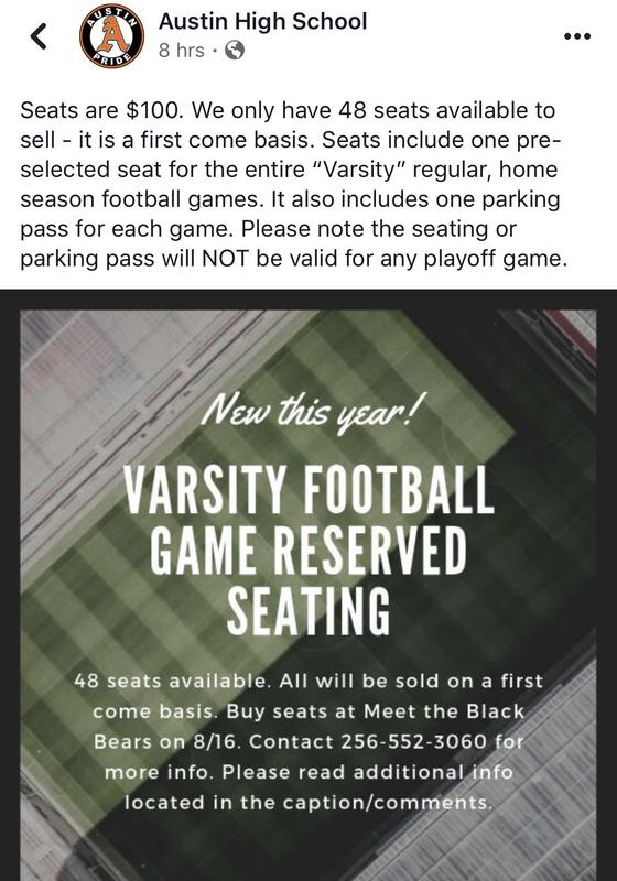 Varsity Football Reserved Seating Featured Photo