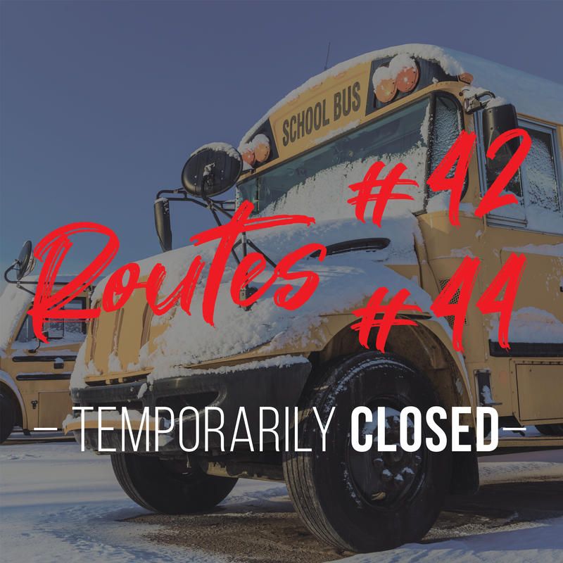 Route 42 and 44 closed