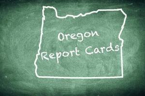 State Report Card Chalkboard Illustration