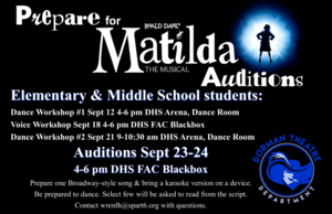 prepare for matilda auditions poster