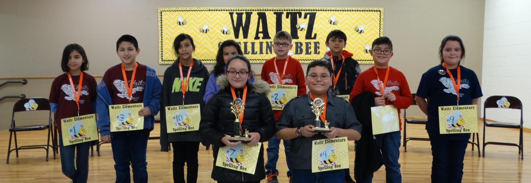 Waitz Spelling Bee participants