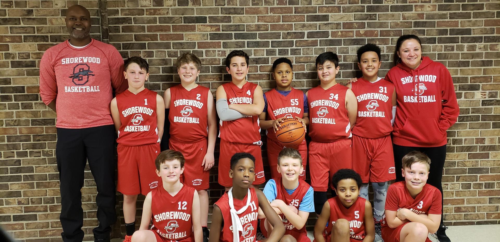 Jr. Greyhound 5th grade team photo