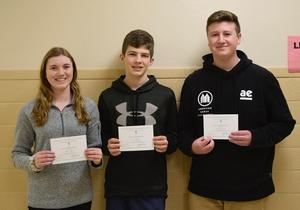 Mars Area seniors Megan Hooper, Jack Ramsey and Nicholas Rupnow were named Commended Students in the 2019 National Merit Scholarship Program.