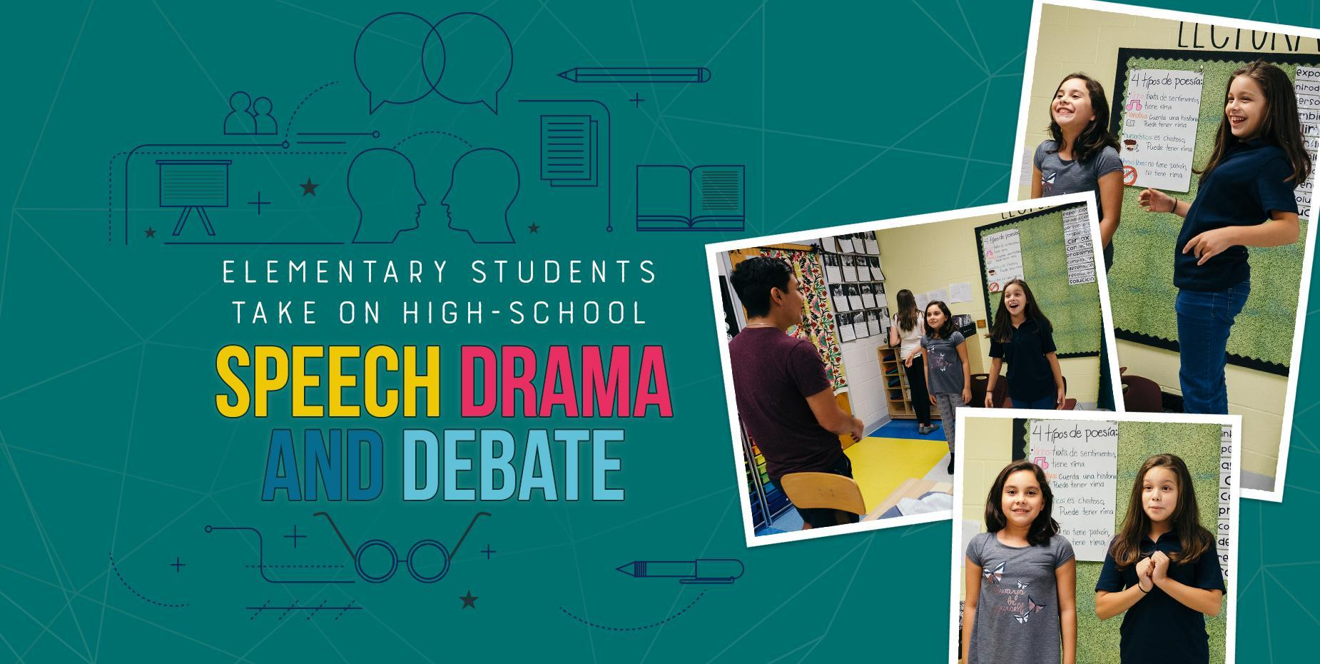 Elementary students take on high-school Speech Drama and Debate