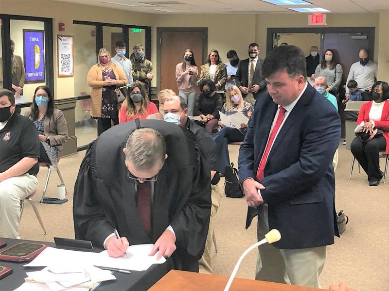 New School Board Member Swearing-In Ceremony