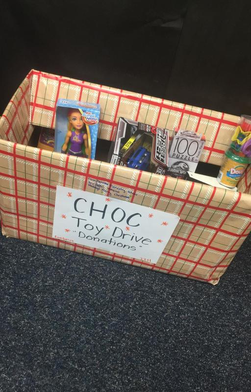 Box of toy donations