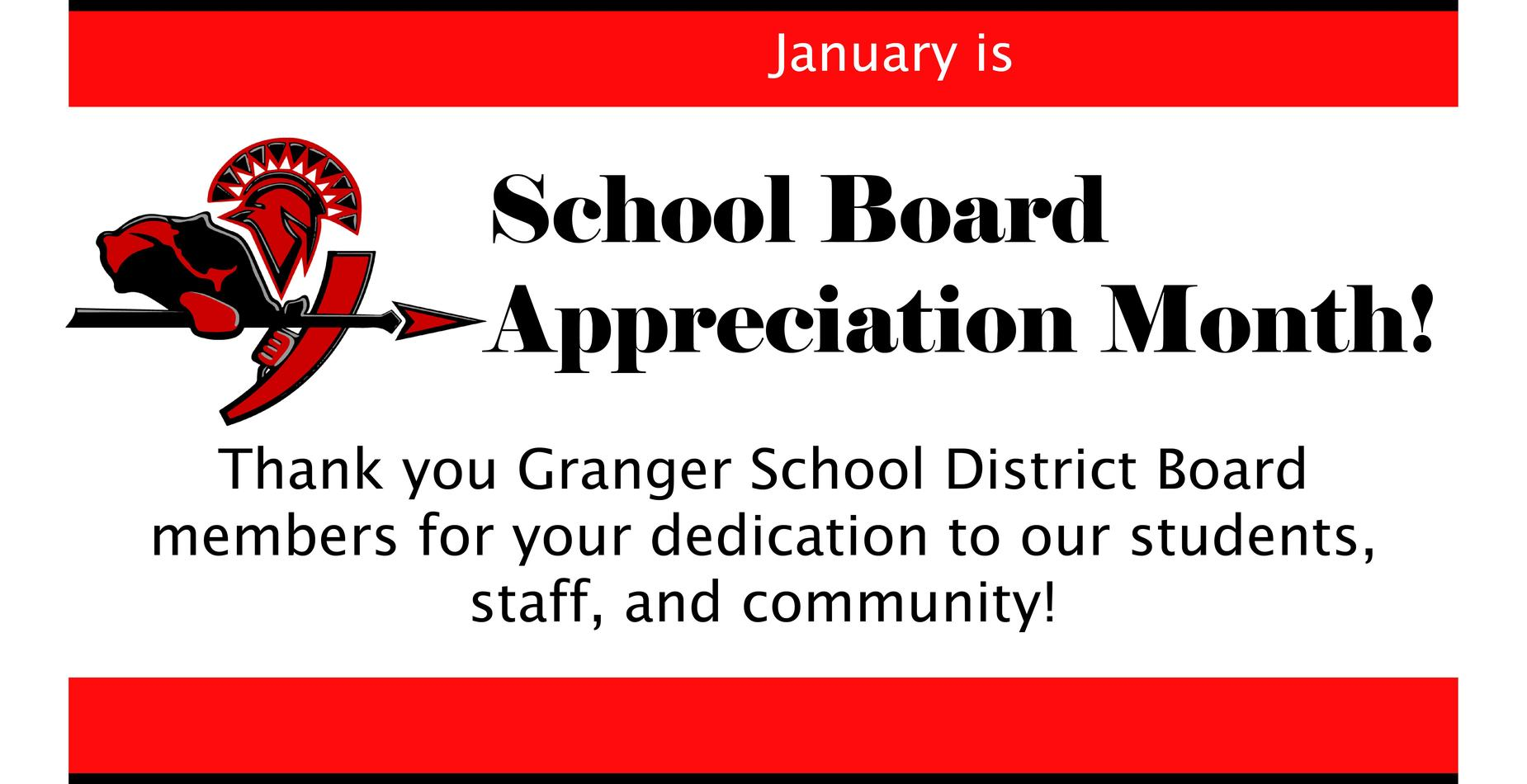 Photo thanking Granger board members for their hard work.