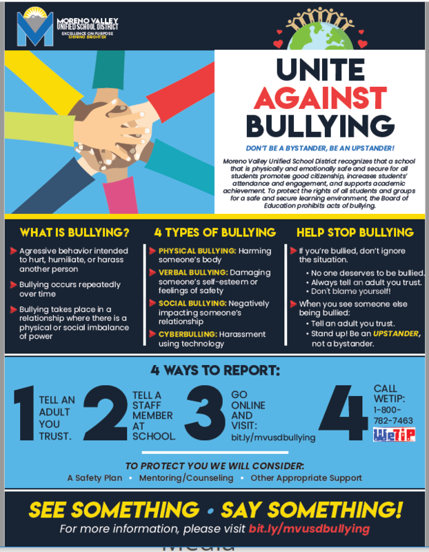 Anti Bullying Flyer - If you see something, say something