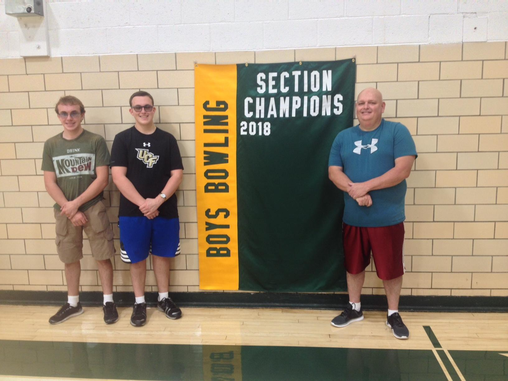 Boys Bowling section champions banner
