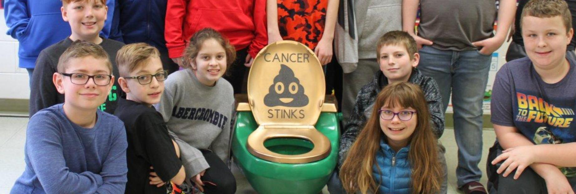 Students in group supporting Cancer Treatment