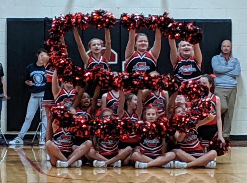 Cheerleaders at Pep Rally