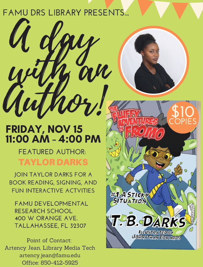 A Day with Author T. B. Darks