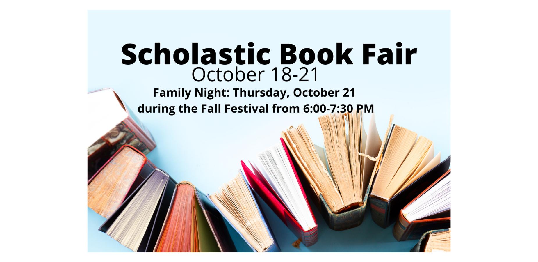 Book Fair October 18-21