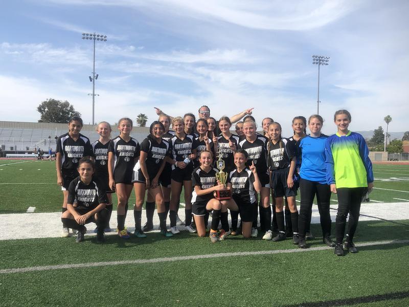 Dartmouth Girls Soccer Team - Diamond Valley League Champions