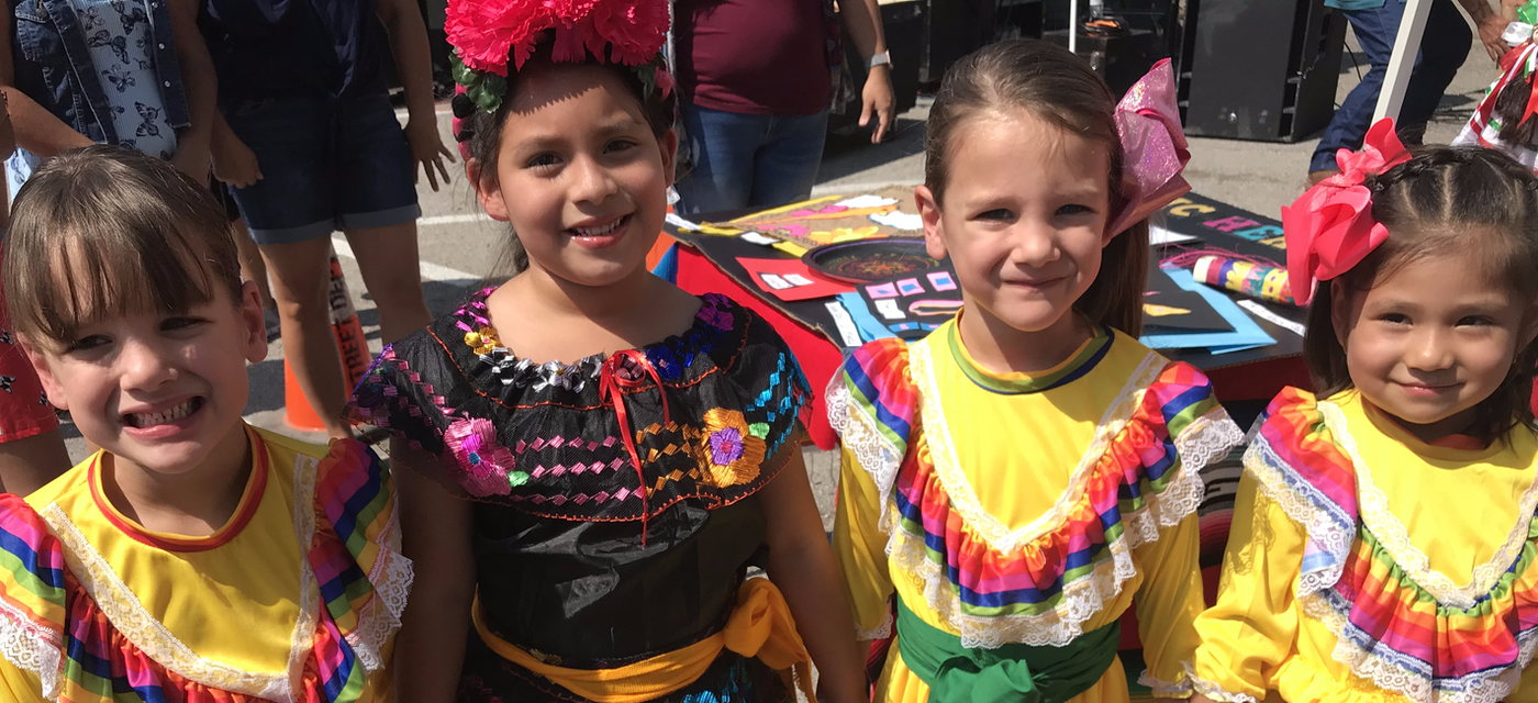 Dual Language students celebrating Hispanic Heritage Month