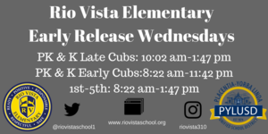 Early Release Wed Image
