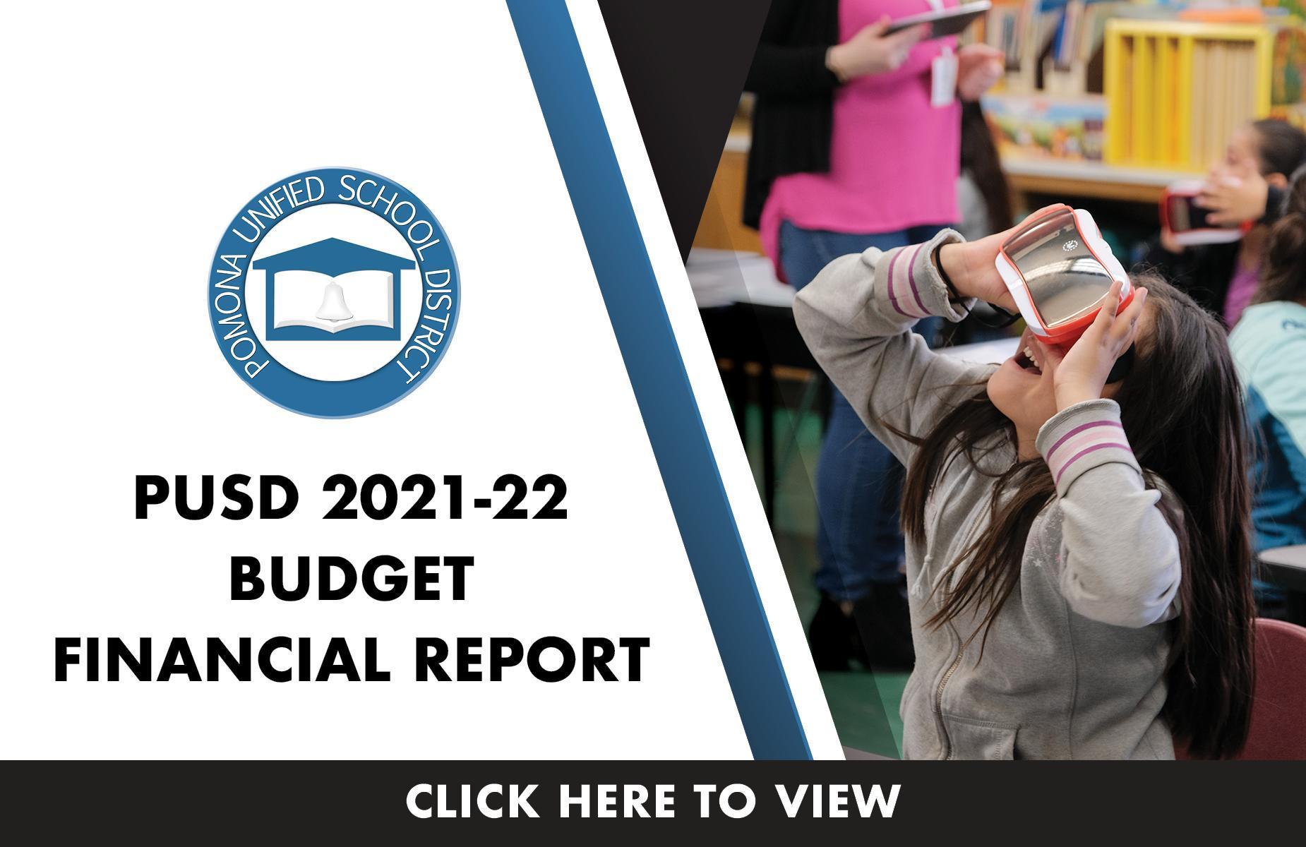 2021-22 Budget Financial Report