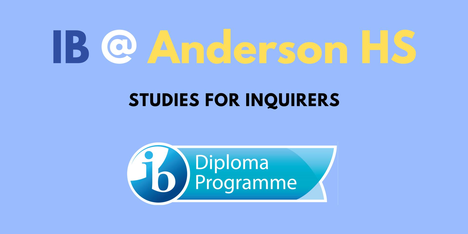 IB at Anderson HS