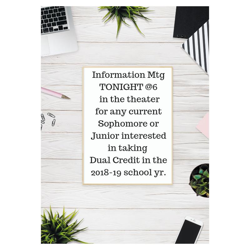 Dual Credit Meeting Details