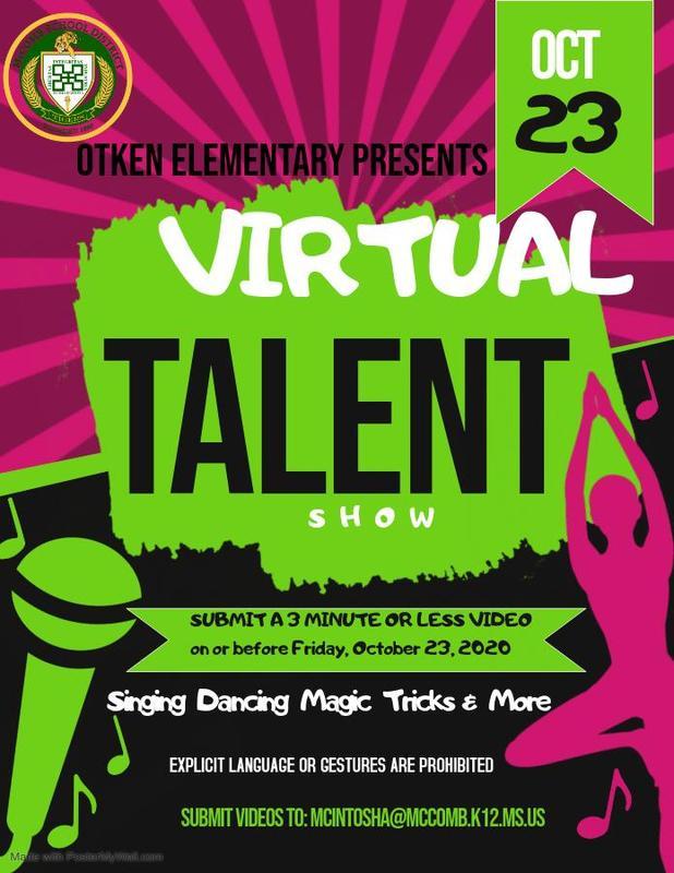 Otken Elementary Virtual Talent Show News 2020