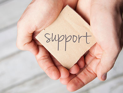 Support Block in students hands.