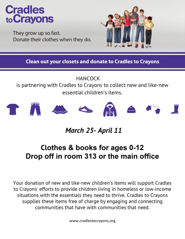 Cradles to Crayons Drive Annoucement