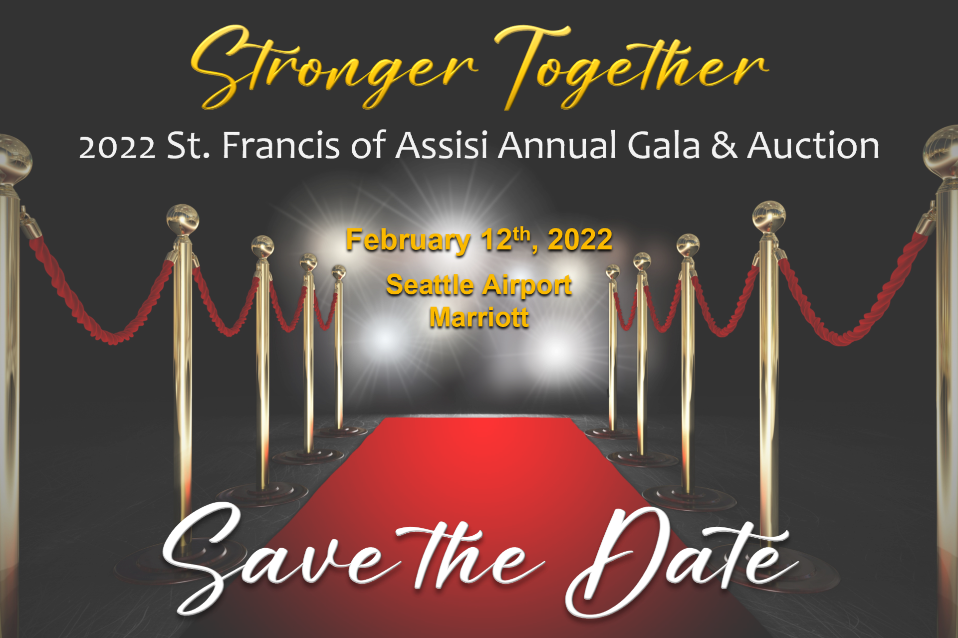 Red Carpet and lights St. Francis of Assisi Annual Gala & Auction