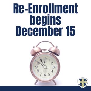 Re-Enrollment Begins December 15 2020