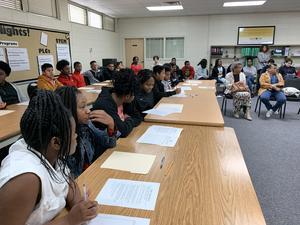8th grade serving as jury.