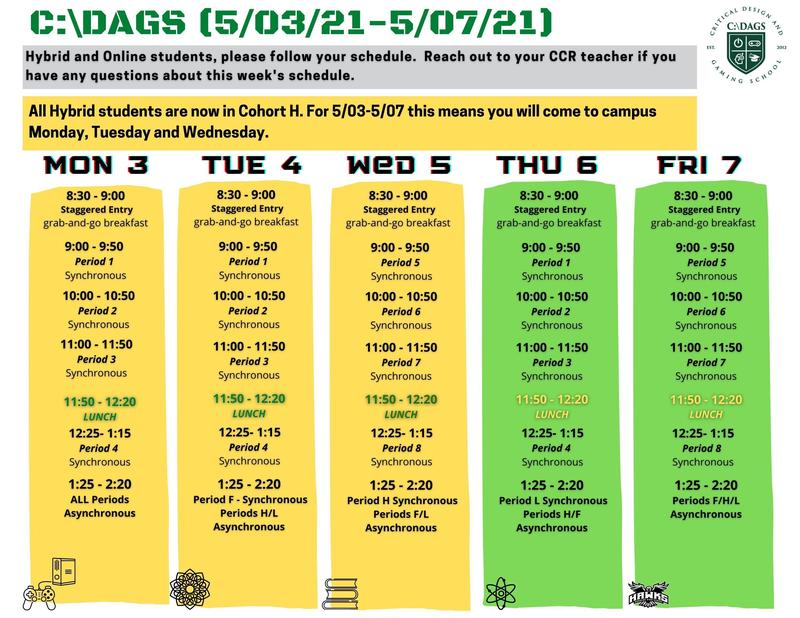 C:\DAGS Schedule (5/3 - 5/7) Featured Photo