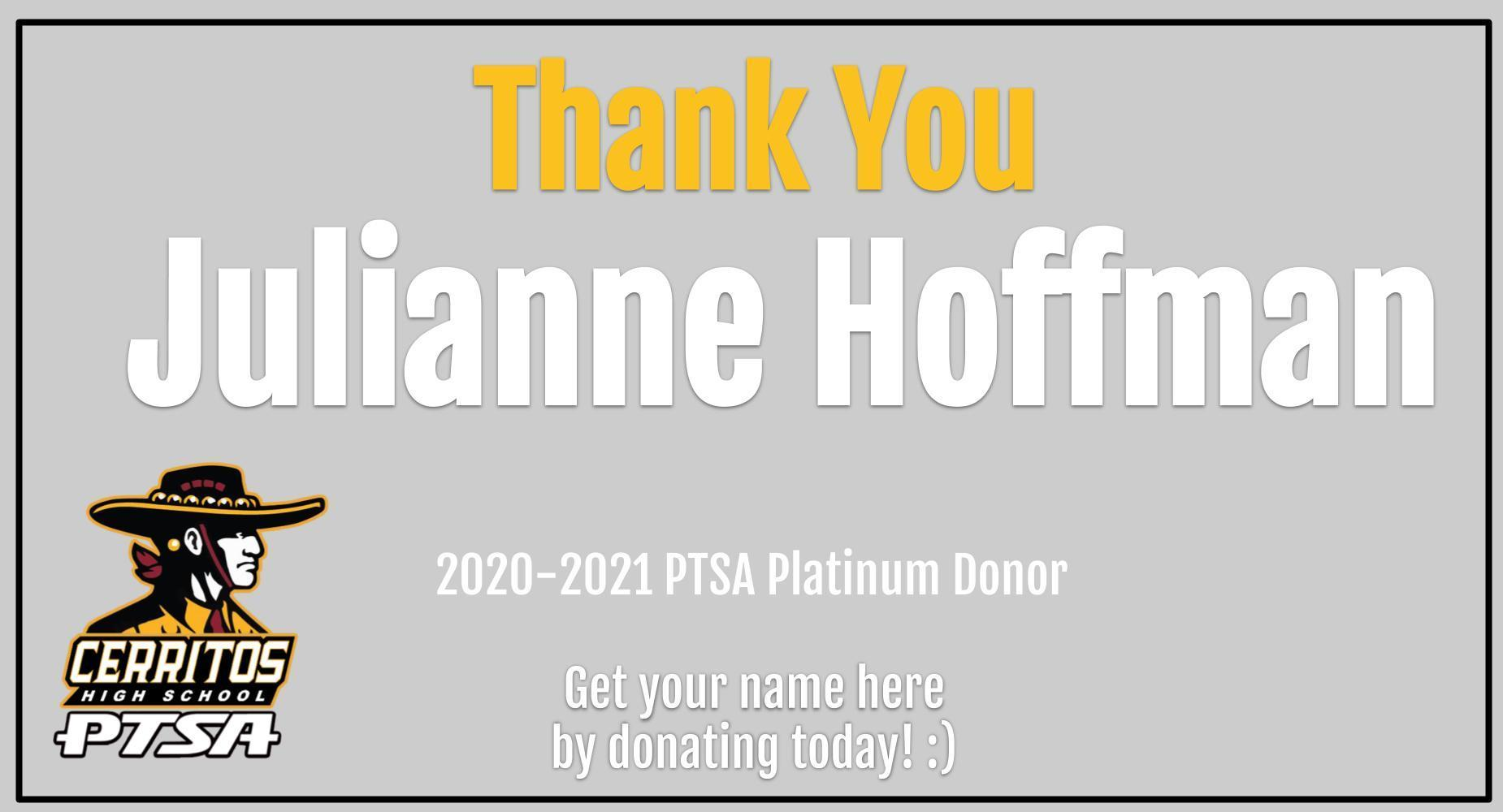 Thank you PTSA Donor!