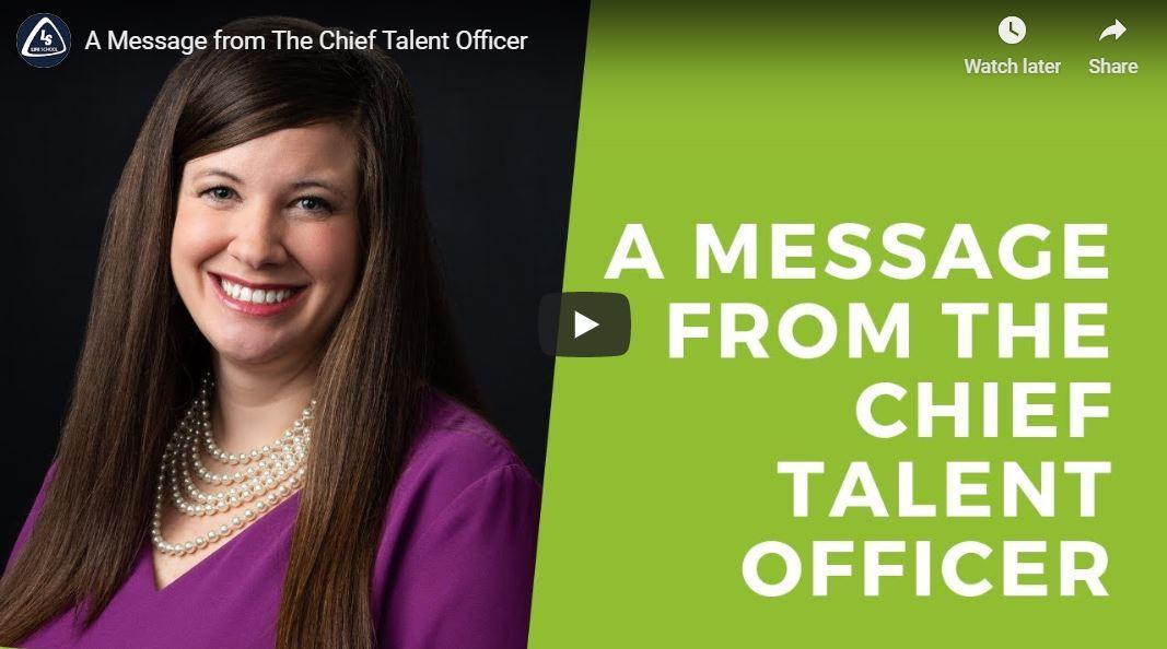 A Message From the Chief Talent Officer