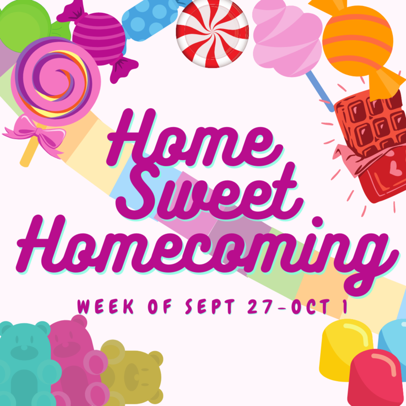 home sweet homecoming graphic