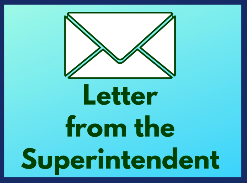 Important Letter from the Superintendent Featured Photo