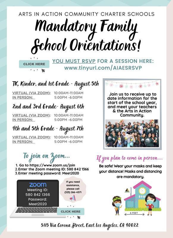Elementary Orientations/ Orientaciones de la escuela primaria Thumbnail Image