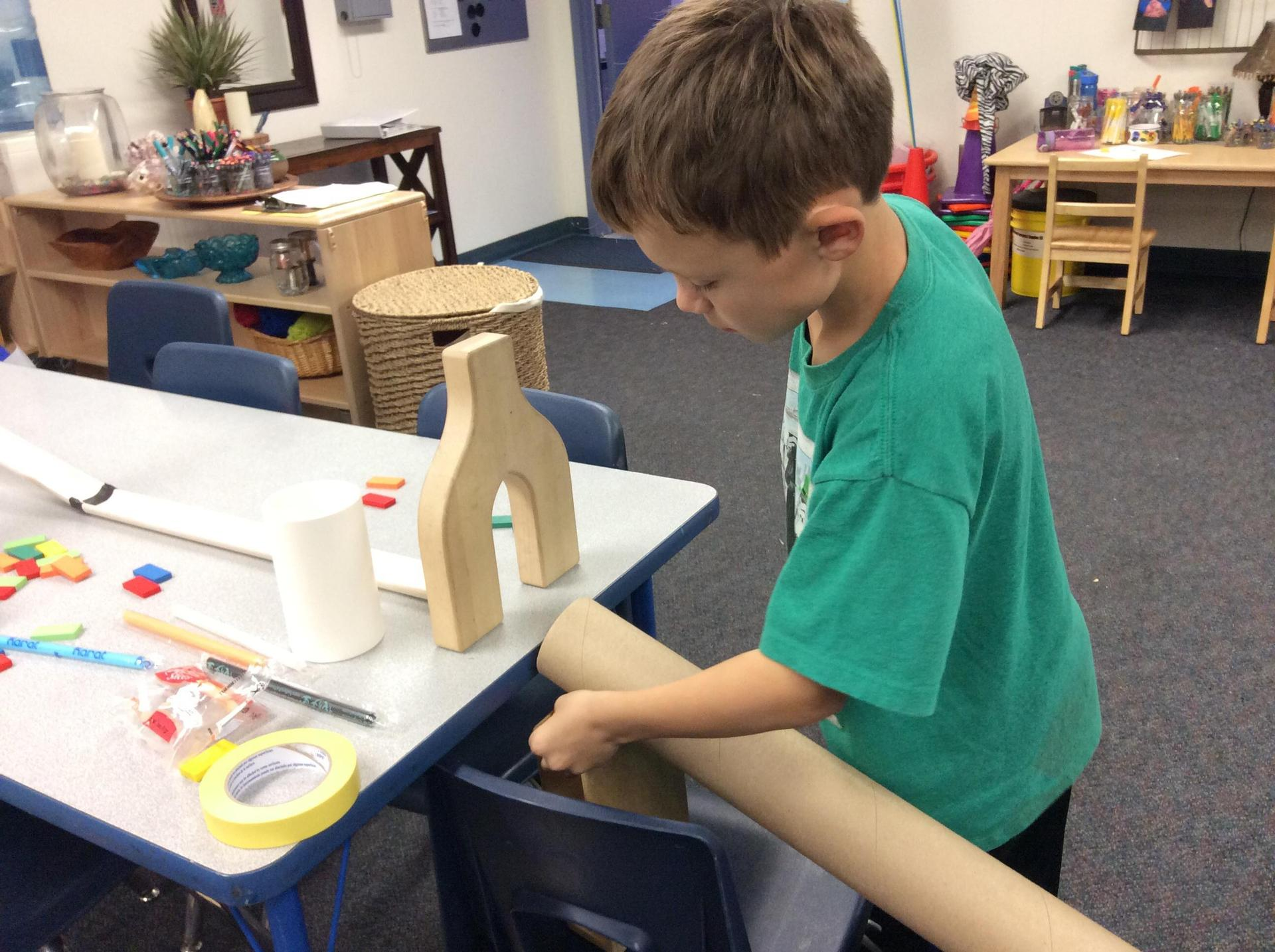 Rube Goldberg challenge creating contraptions.