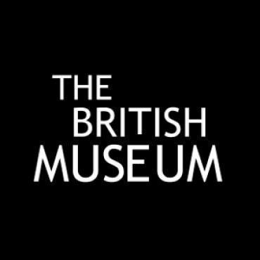 The British Museum logo, white text on a black background