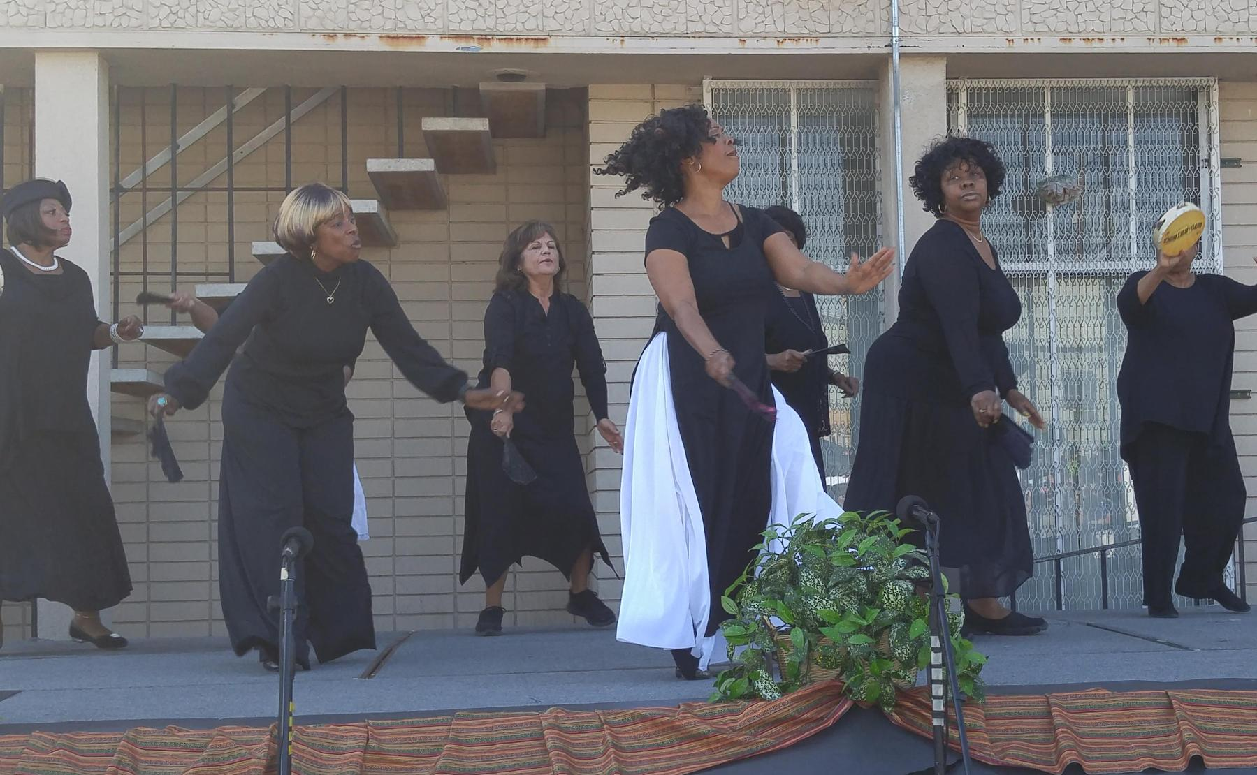 Ms. Brown and her Senior Center Class performing at our Black History Month Celebration (Feb 2016).