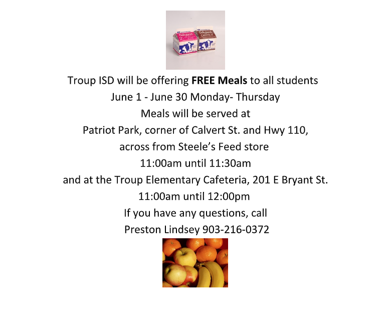Free Student Meals For the Month of June Featured Photo
