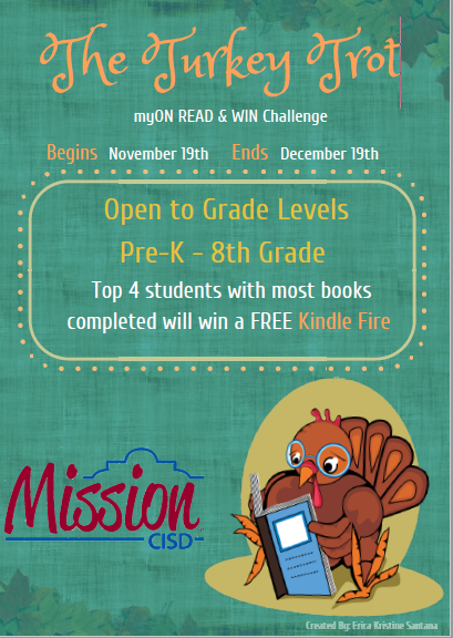 Turkey Trot myON READ & WIN Challenge Featured Photo