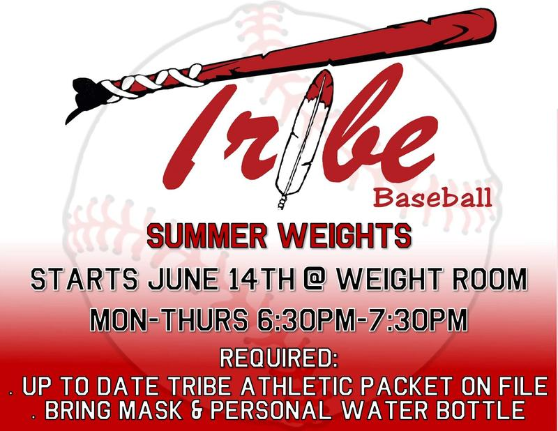 Summer Baseball Schedule
