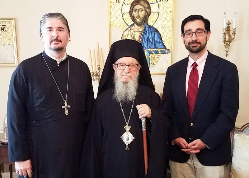 Head of School Meets With His Eminence Archbishop Demetrios, Geron of America Featured Photo