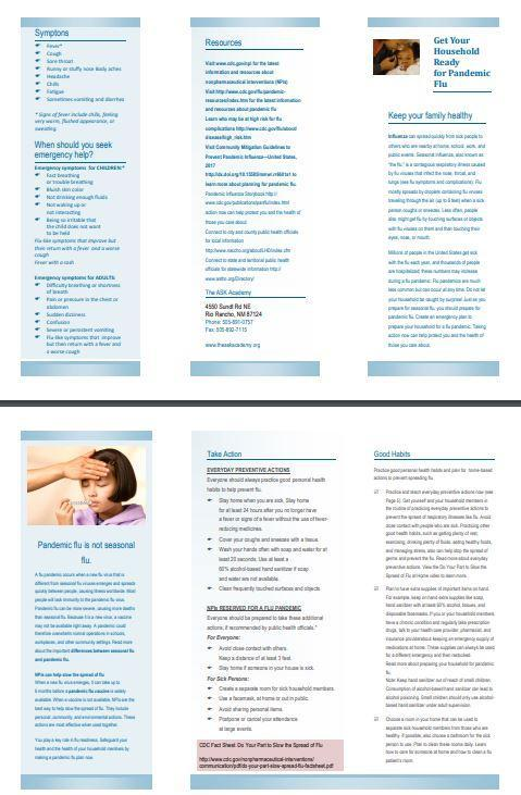 Pic of Flu Brochure