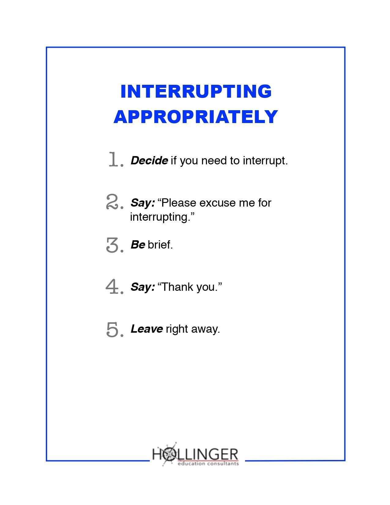 Interrupting Appropriately