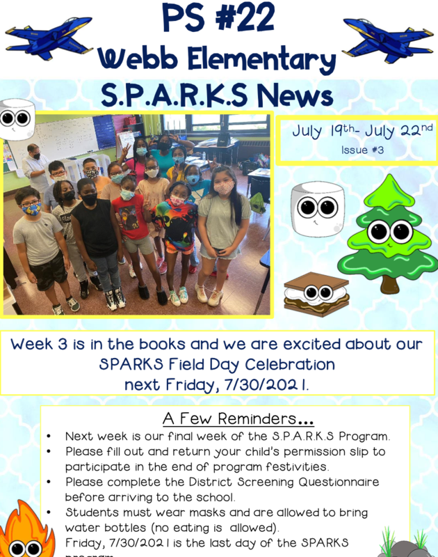 Great Things Are Happening at #22 During Week 3 of the SPARKS Program. Featured Photo